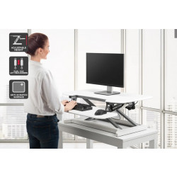 ★ Ergolux DuoPro Height Adjustable Sit Stand Desk Riser